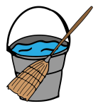 broom and pail